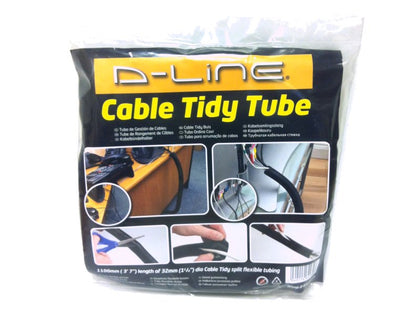 D-LINE Cable Tidy Tube 1.1m BLACK