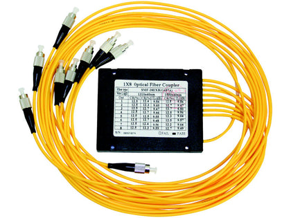 GLOBAL 8 Way Fibre Optic Splitter + Leads