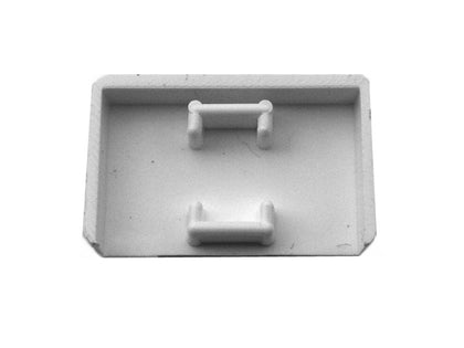 MINI TRUNKING 16x16mm Stop End White