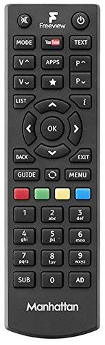 New Manhattan Plaza Freeview Remote Control For HD-T2 HDT2