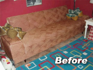 Refurbishing a Living Room Couch with Fabric Spray Dye
