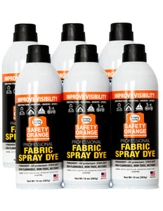 Designer Accents Fabric Paint Spray Dye by Simply Spray - Safety Orange