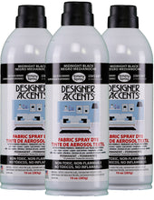 Load image into Gallery viewer, Designer Accents Fabric Paint Spray Dye by Simply Spray - Black