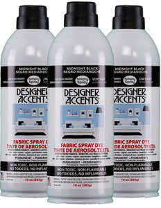 Three cans of simply spray midnight black fabric paint spray dye