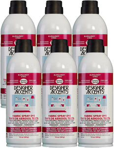 Six cans of simply spray burgundy fabric paint spray dye