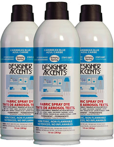 Three cans of simply spray caribbean blue fabric paint spray dye