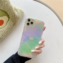 Load image into Gallery viewer, Iridescent Rainbow Heart Case