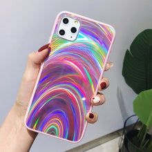 Load image into Gallery viewer, Laser Light Holographic - Rainbow Aurora Case