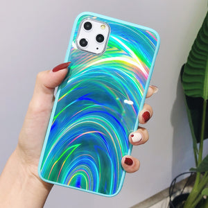 Laser Light Holographic - Rainbow Aurora Case