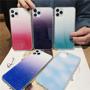 Glitter Gradient Transparent Case