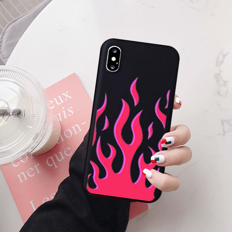 Pink Flames Phone Case