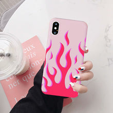Load image into Gallery viewer, Pink Flames Phone Case