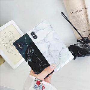 Rectangle Marble Texture Phone Case