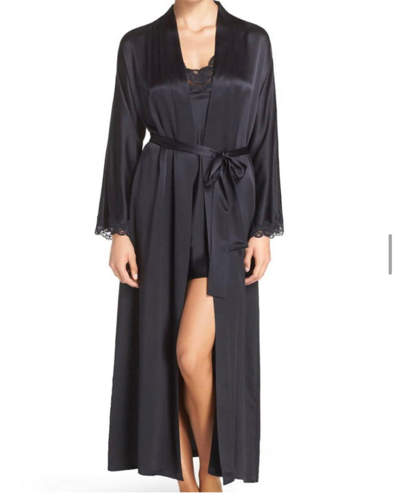 Christine Silk Boudoir Long Robe BIJR8050