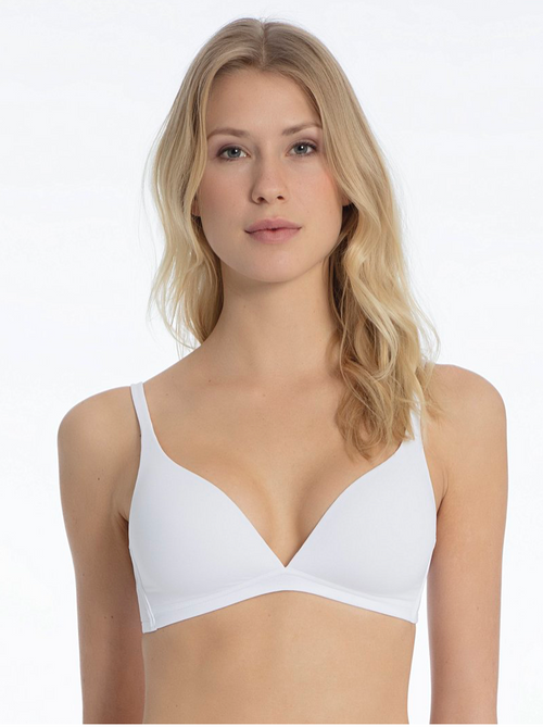 Calida Sensitive White Wireless Bra 04025