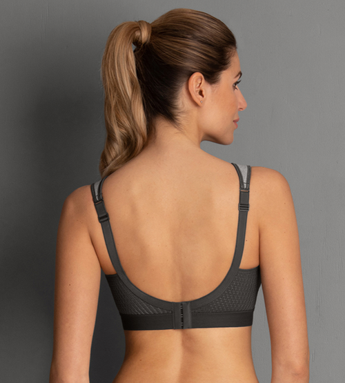 Anita Extreme Control Sports Bra  B - H Cup Heather Grey 5527