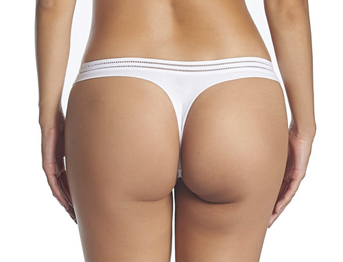 Huit Sweet Cotton Thong White SWC-J10