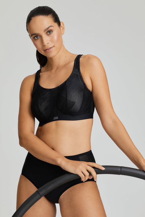 PrimaDonna Sport Wired Sports Bra Black C-H CUP 6000510