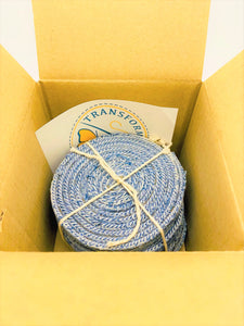 DRINK COASTERS: Set of 4 - Handcrafted from Jean Seams – *Perfect* Housewarming Gift