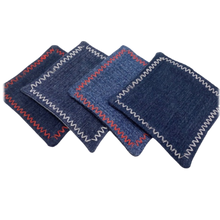 Load image into Gallery viewer, DENIM COASTERS -  Set of 4 - Housewarming gift – farmhouse style