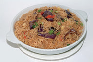 E19. Minced Pork with Eggplant & Salted Fish Braised Vermicelli