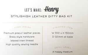 Hammered Leatherworks Kit : Henry Toiletries bag
