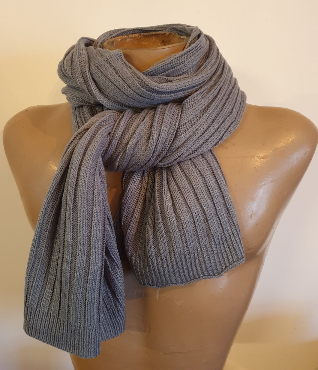 Scarf Plain Rib Knit