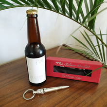 Load image into Gallery viewer, Silver Bullet Bottle Opener Keyring