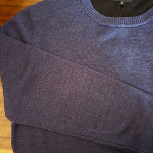 Berlin Crew neck Merino knit. Grey or Blue.