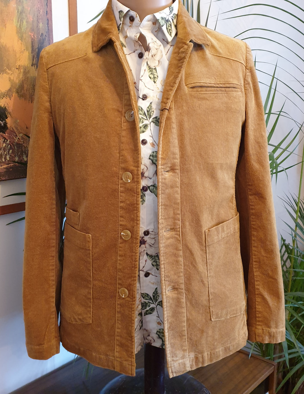 Leo Cord Jacket,  Tan or Grey