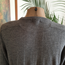 Load image into Gallery viewer, Berlin Crew neck Merino knit. Grey or Blue.