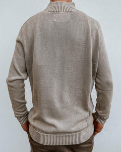 Half Zip Cotton Jumper