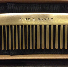 Load image into Gallery viewer, Gentlemen's Brass Comb
