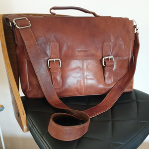 Rustic Leather Satchel/Computer Bag