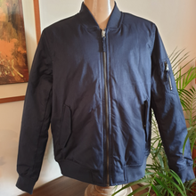 Load image into Gallery viewer, Richie Bomber Jacket : Navy Blue