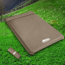 Load image into Gallery viewer, Weisshorn Double Size Self Inflating Mattress Mat 10CM Thick   Coffee