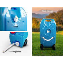 Load image into Gallery viewer, Weisshorn 40L Portable Wheel Water Tank - Blue