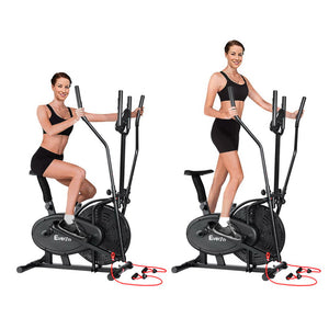 Everfit 5in1 Elliptical Cross Trainer Exercise Bike Bicycle Home Gym Fitness Machine Running Walking - Maddie & Jack's Playground