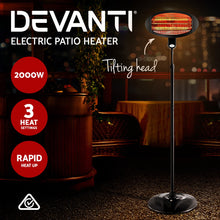 Load image into Gallery viewer, Devanti 2000w Electric Portable Patio Strip Heater