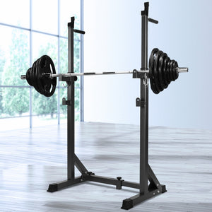 Everfit Squat Rack Pair Fitness Weight Lifting Gym Exercise Barbell Stand - Maddie & Jack's Playground