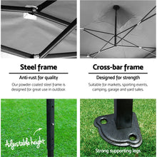 Load image into Gallery viewer, Instahut 3x3m Outdoor Gazebo - Black
