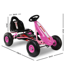 Load image into Gallery viewer, RIGO Kids Pedal Go Kart Car Ride On Toys Racing Bike Pink