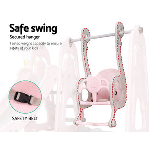 Keezi Kids Slide Swing - Pink