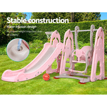 Load image into Gallery viewer, Keezi Kids Slide Swing - Pink