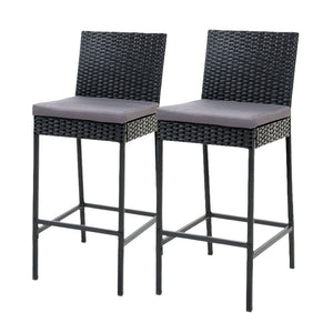 Gardeon Outdoor Bar Stools Dining Chairs Rattan Furniture X 2