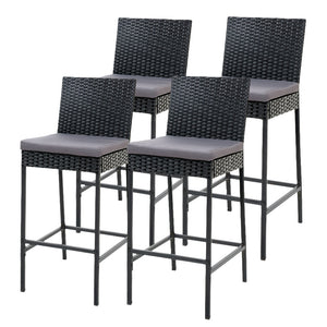 Gardeon Outdoor Bar Stools Dining Chairs Rattan Furniture X 4