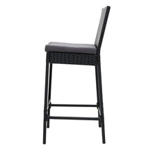 Load image into Gallery viewer, Gardeon Outdoor Bar Stools Dining Chairs Rattan Furniture X 4