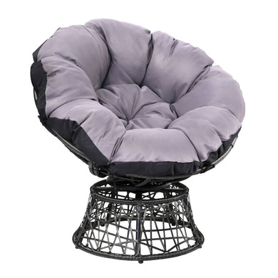 Gardeon Papasan Chair - Black