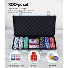 Load image into Gallery viewer, Poker Chip Set 300PC Chips TEXAS HOLD'EM Casino Gambling Dice Cards