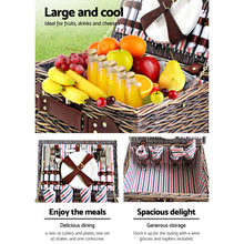 Load image into Gallery viewer, Alfresco 4 Person Picnic Basket